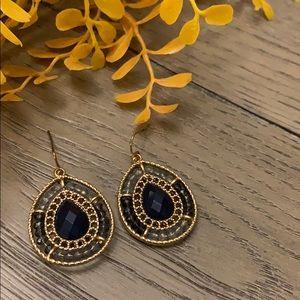 Francescas Navy blue drop earrings
